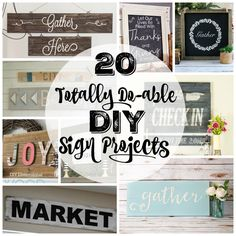 20 Totally do-able DIY Sign Projects at thehappyhousie.com