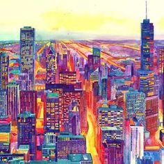 Colossal x Maja Wronska: Modern City Watercolor Series