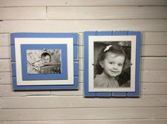 Blue and white picture frame holds or University of North Carolina Tar Heels colors