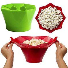 Popcorn Silicone Bowl Microwave Maker & Folding Kitchen Homemade Popcorn Bucket