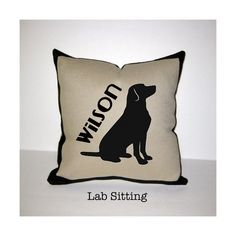 LAB LABRADOR RETRIEVER Dog Breed Pillow One of a by Twiceasnice