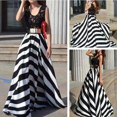 Black and white circle skirt!