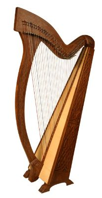 Beautifully carved harp #music #musical instrument