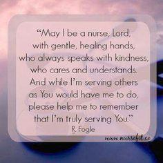 "Nurses Prayer ""May I be a nurse, Lord, with gentle, healing hands, who always… Nursing Career, Nursing Tips, Nursing Notes, Funny Nursing, Nursing Finals, Nursing Profession, Ob Nursing, Nursing Assistant, Nursing Graduation"