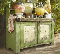 Love this PB console table. Just that Pop of color I am looking for.