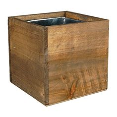 Wood Cube Box Wood Planters with Removable Zinc Liner (Pack of 2) Modern Vase & Gift http://www.amazon.com/dp/B00VMZ4LOS/ref=cm_sw_r_pi_dp_dssxvb0K8RG1E
