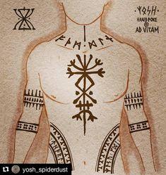 tatts 6 yellow lines logo - Yellow Things Viking Rune Tattoo, Norse Tattoo, Celtic Tattoos, Viking Tattoos, Pagan Tattoo, Warrior Tattoos, Armor Tattoo, Wiccan Tattoos, Inca Tattoo