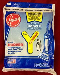 """#manythings.online 9 Pack, #Hoover, Style """"Y"""" Wind Tunnel Allergen Filtration Vacuum Bag, Fits All Wind Tunnel Models."""