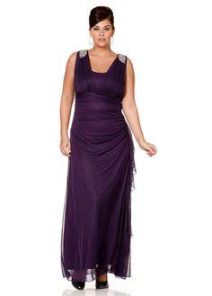 M.I.M. Společenské šaty pro plnoštíhlé M.I.M., pro plnoštíhlé společenské šaty lila (sklad v.22), Velikosti zkrácené výška do 1,65 m 22/23, Značka M.I.M., Barva lila