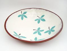 Ceramic Serving Bowl  Hand Painted Pottery  by susansimonini, $70.00