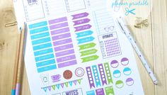 Back to School2 Planner Stickers -Free Printable Download