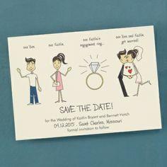 Save the Date Invitation - Ecru | Absolutely Eva
