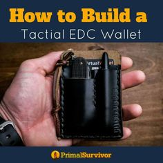Light enough to fit into your pocket but powerful enough to save your life when SHTF. We show you how you can pack your own DIY EDC Kit into a small wallet to carry with you at all times. #EDCkit #everydaycarry #DIY #survivalgear #emergencypreparedness #shtf #primalsurvivor