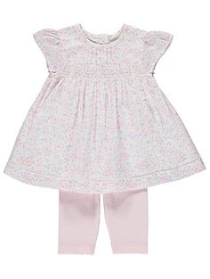 Floral Pleated Dress and Leggings Set, read reviews and buy online at George at ASDA. Shop from our latest range in Baby. Prettify their outfit collection wi...
