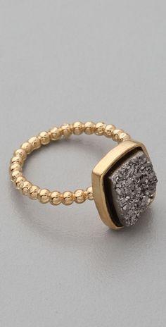 Love this Nadia Square Ring by Dara Ettinger