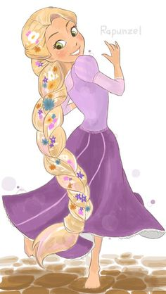 Photos and videos by きゅーぽん ( Disney Rapunzel, Disney Princess Art, Tangled Rapunzel, Princesa Disney, Disney Art, Disney And More, Disney Love, Disney Magic, Disney And Dreamworks