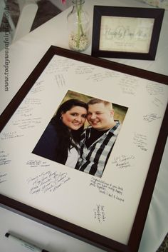 personalized wedding autograph frame wedding wedding