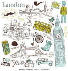 stock vector : London doodles