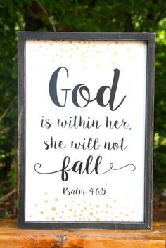 God Is Within Her Sign
