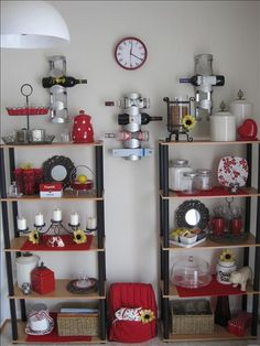 Willow House products beautifully displayed on kitchen shelves!  Order products shown here at www.denisecosgrove.willowhouse.com