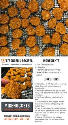 Quick and easy chicken nuggets with a #macrofriendly twist. Follow us on Instagram @strongeru or the tag #strongerurecipes for more healthy recipes.