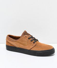 sports shoes e705c 058fe Nike SB Janoski British Tan  Black Suede Skate Shoes