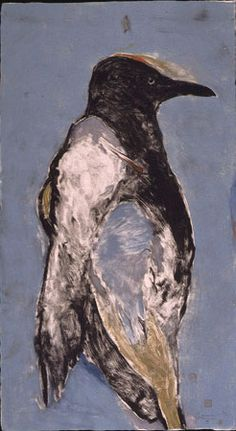 Rick Bartow - Big Crow , 2003 Formatting monotype, 1/1