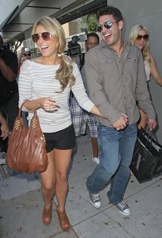 Bachelorette Fashion - Ali Fedotowsky Brown Wedge Peep Toe Booties and striped sweater · Possessionista Celebrity Style