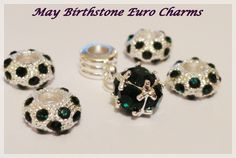 '(5) Piece Set - Pugster May Birthstone Euro Charms ' is going up for auction at  5pm Thu, Jan 10 with a starting bid of $5.