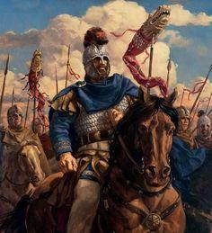Oficial romano al frente de sus tropas de caballería durante el Bajo Imperio. http://www.elgrancapitan.org/foro/viewtopic.php?f=87&t=16979&p=894581#p894581