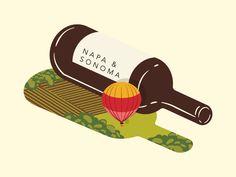 Wine Feature Illustration for Saute Magazine - Napa Sonoma by Jennifer Hood #Design Popular #Dribbble #shots