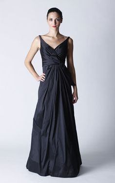 Priscilla of Boston STYLE PB431. Comes in Shale and Petit Four. Taffeta gown. check this out in Shale