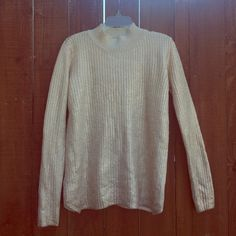 M Romeo+Juliet Couture Rose Gold Sweater Gorgeous mock neck metallic rose gold sweater. Never worn! Romeo & Juliet Couture Sweaters Cowl & Turtlenecks
