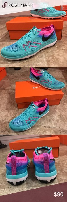 Nike WMNS Free TR Focus Flyknit - Brand: Nike - Style: Nike WMNS Free TR Focus Flyknit - Condition: Brand New In Original Box - Style Code: 844817-300 - Size: Various Sizes - Color: Hyper Jade / Black-Pink - Please Purchase With Confidence! - All shoes are acquired from Nike or certified retailers of Nike ONLY! - We only work with 100% authentic shoes of A+ quality. - PLEASE CONTACT US WITH ANY QUESTIONS OR CONCERNS REGARDING THIS PRODUCT. Nike Shoes Sneakers