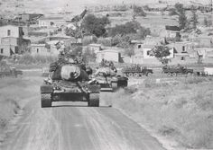 """Tanks M-47 """"Patton II"""" of the Turkish army during the Turkish invasion of…"""