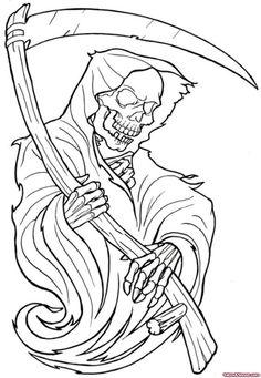 Attraktives Outline Sensenmann Tattoo Design Source by jessicaslyfield Kunst Tattoos, Bild Tattoos, Tattoo Drawings, Tattoo Outline Drawing, Sketch Tattoo, Art Drawings, Flash Art Tattoos, Grim Reaper Art, Grim Reaper Tattoo