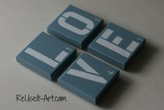Reclaimed Wood Coasters. 3.1/2 x 3.1/2 x 3/4 thick. by ReUseItArt