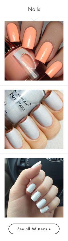 """Nails"" by haleybean47 ❤ liked on Polyvore featuring beauty products, nail care, nail polish, nails, beauty, makeup, bath & beauty, makeup & cosmetics, silver and shiny nail polish"