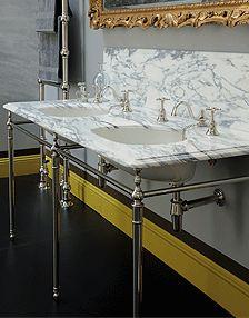 Double Arabescato Wash Hand Basin