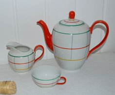 Porzellanmanufaktur Franz Bauer, Kahla, DDR, GDR, Vintage Tableware