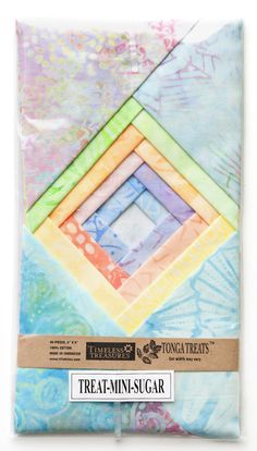 » Tonga Treat Minis (5″ Squares) Timeless Treasures #pastels