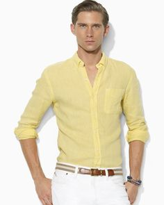 Image result for yellow shirt combination for men