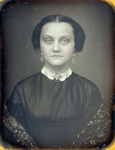 Pale Victorian Beauty Daguerreotype Closeup by Mirror Image Gallery, via Flickr