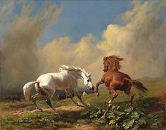 Horses balking at approaching storm - 1849 Rudolf Koller (Swiss, 1828–1905)