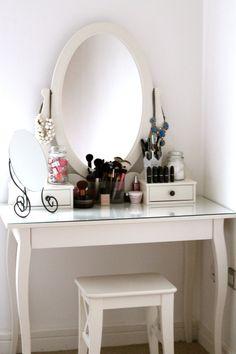 My ikea dressing table. Ikea Dressing Table, Ikea Mirror, Vanity Room, Beauty Room, Modern Interior Design, My Room, Sweet Home, Vanity Organization, Makeup Storage
