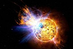NASA's Swift satellite picked up one of the brightest solar flares ever seen — not from our own sun, but a star 16 ly away. This flare packed the power of thousands of solar flares combined, and a flare of this magnitude from our own sun would have stripped Earth's atmosphere and sterilized the planet. Astronomers say the flare (which would have been visible to the naked eye on 4/25/2008) caused Swifts' Ultraviolet/Optical Telescope to shut down for safety reasons.