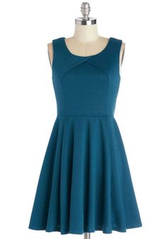 Twirl This Way Dress. Its easy to spot you wearing this sea-blue dress, even from across the room! #blueNaN