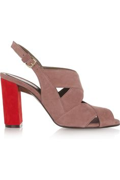 love...Marni | Two-tone suede sandals