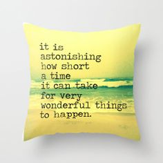 Quote Pillow  Beach Pillow  Throw Pillow by VintageBeachQuotes, $38.00