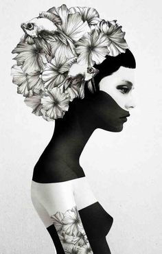 Flower hair  * o *